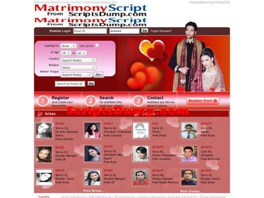 Product picture Matrimonial script PHP
