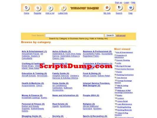 Product picture PHP Yellow Pages Script from ScriptsDump